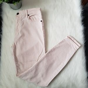 LOFT Pinstripe Skinny Jean
